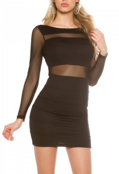 ooKouCla_minidress_with_transparent_sleeves__Color_BLACK_Size_M_0000IN50238_SCHWARZ_76
