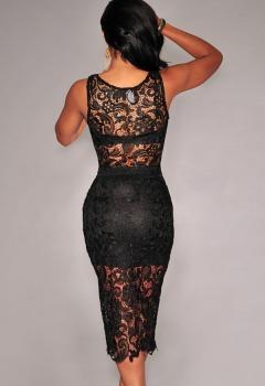 Black-Floral-Lace-Skirt-Set-LC6798-2..